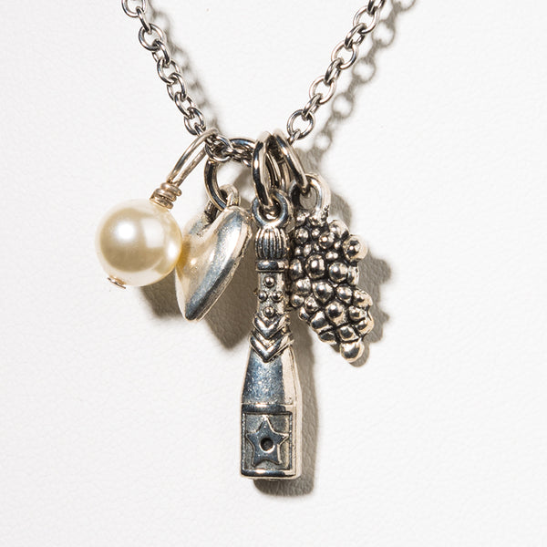 Champagne Charm Necklace - Cheeryos Jewelry
