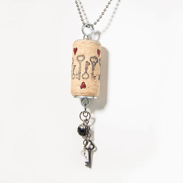 Keys on Cork Necklace - Cheeryos Jewelry