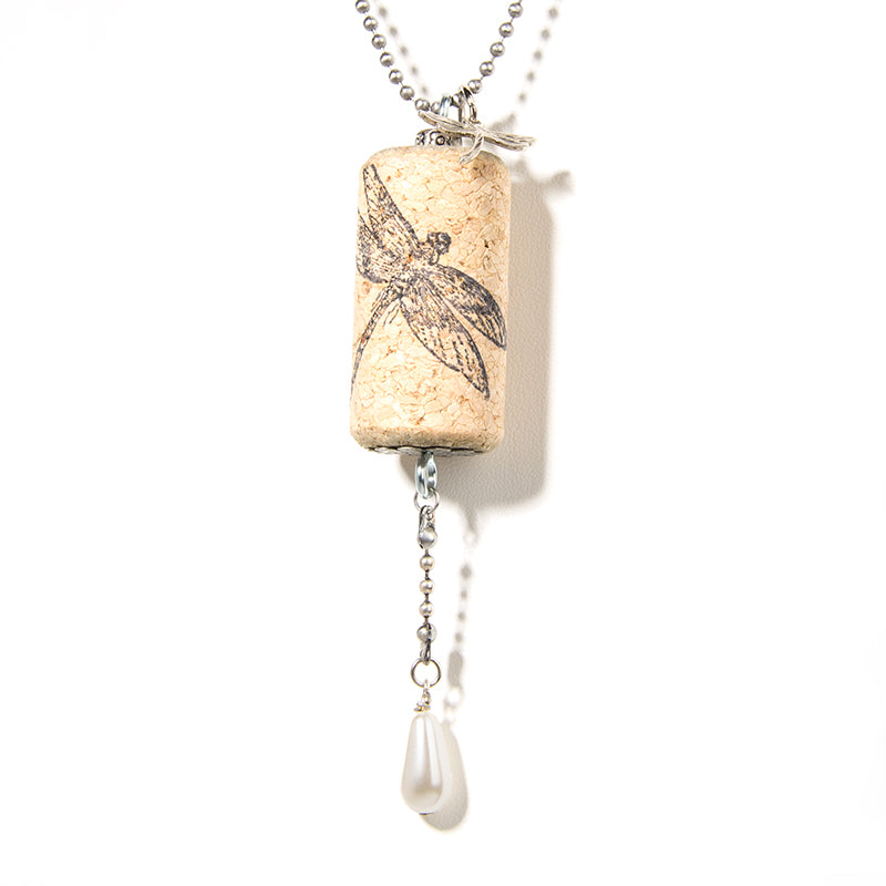 Dragonfly Cork Necklace - Cheeryos Jewelry