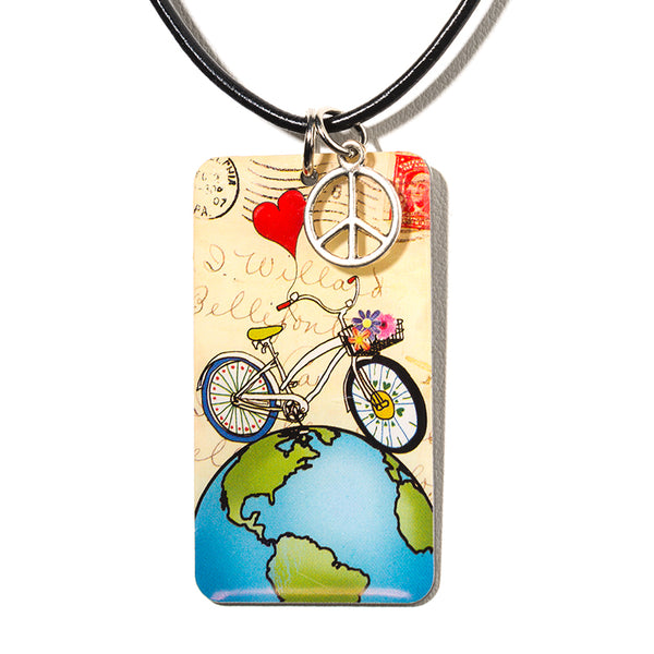World Peace-Charm Necklace - Cheeryos Jewelry