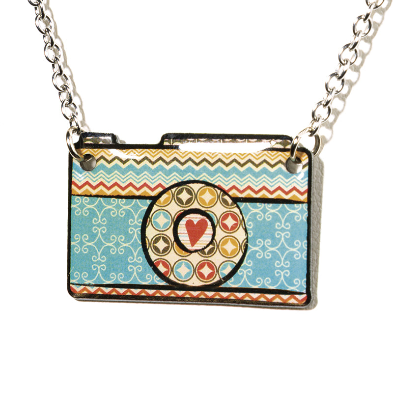 Vintage Camera-Turquiose - Cheeryos Jewelry