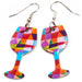 Abstract Wine Earrings - Cheeryos Jewelry