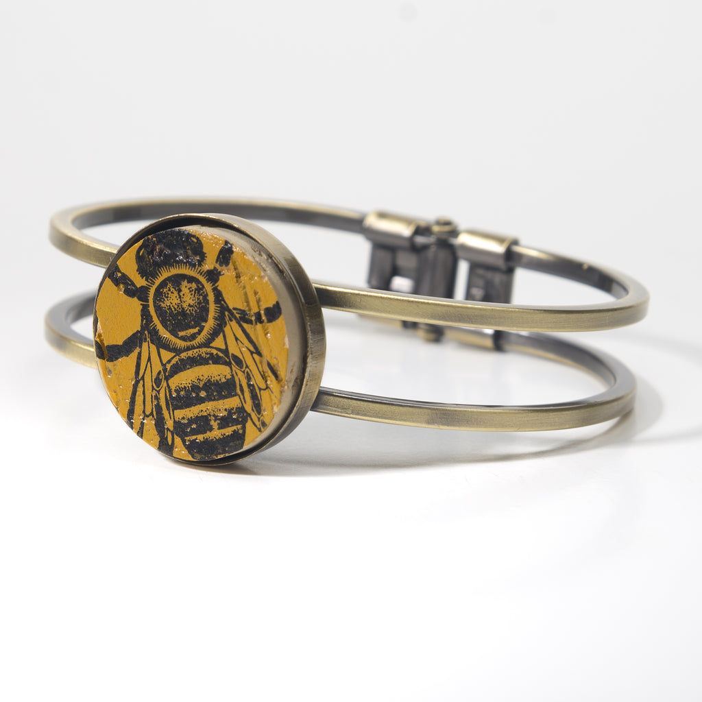 We Love Bees Cork Bracelet - Cheeryos Jewelry