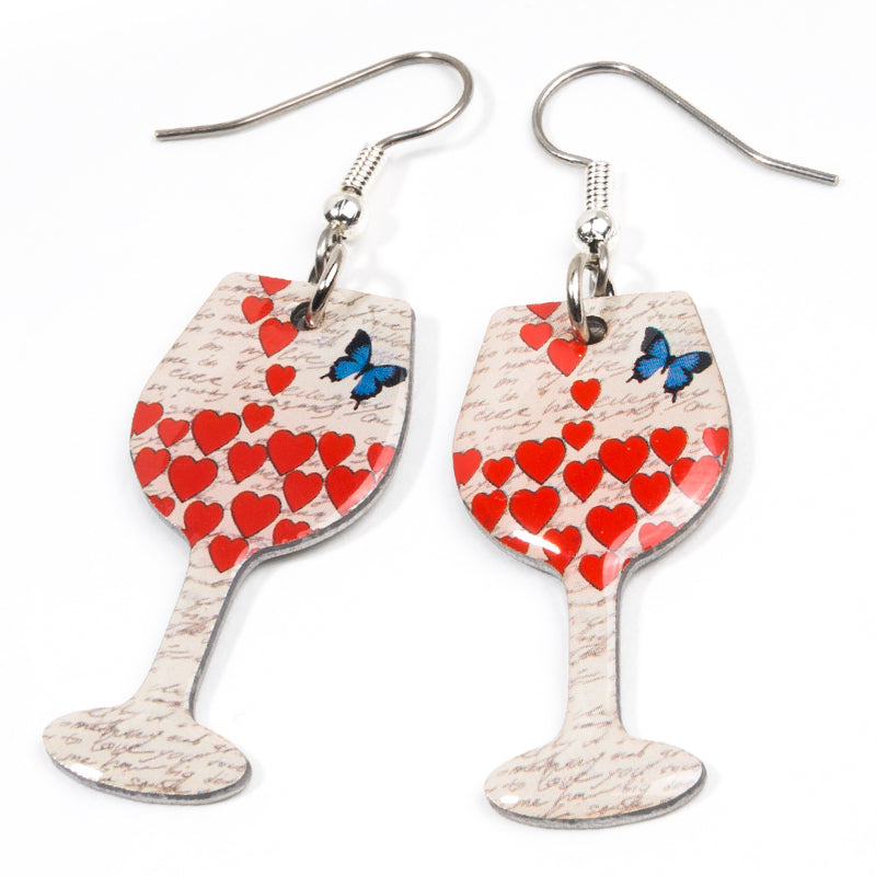 Butterfly Wine Earrings - Cheeryos Jewelry