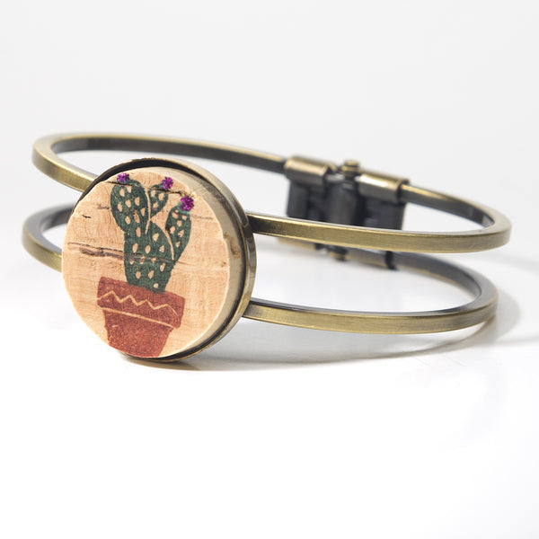 Sweet Cactus Cork Bracelet - Cheeryos Jewelry