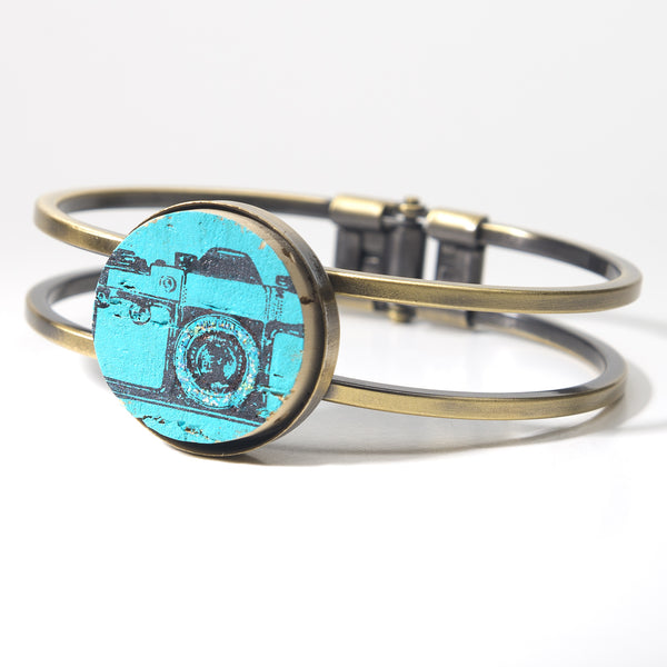 Vintage Camera Cork Bracelet - Cheeryos Jewelry
