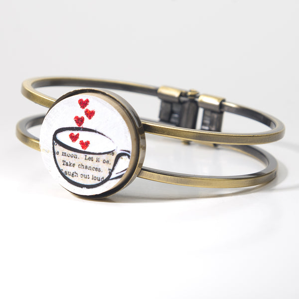 Love in a Cup Cork Bracelet