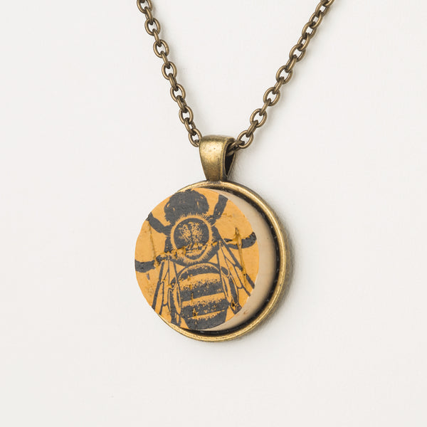 We Love Bees Cork Necklace
