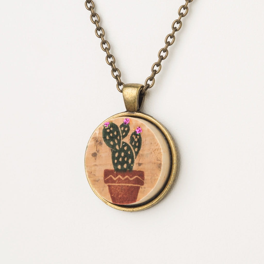 Sweet Cactus Cork Necklace - Cheeryos Jewelry