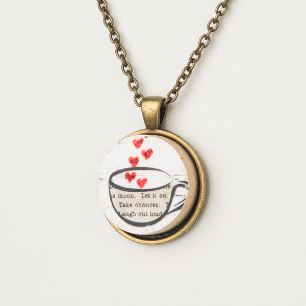 Love in a Cup Cork Necklace - Cheeryos Jewelry