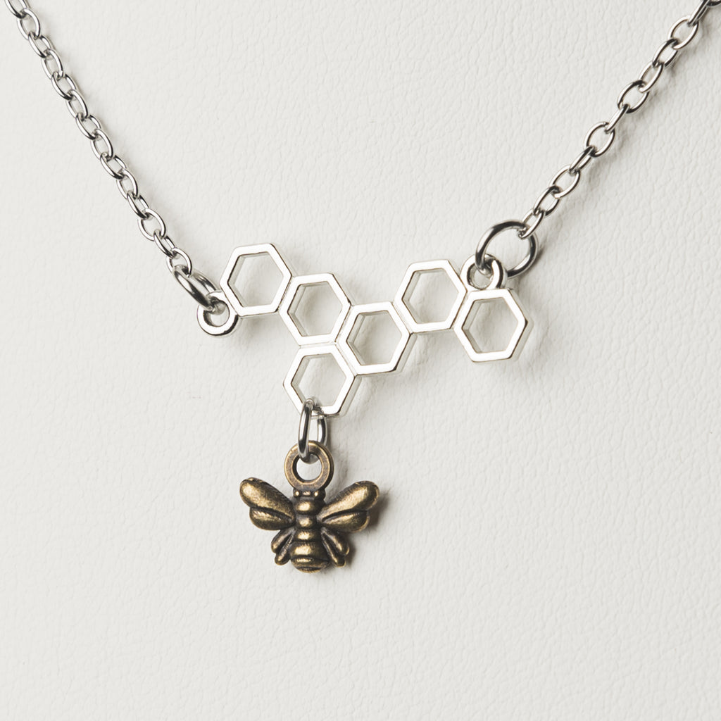 Honey Bee Charm Necklace - Cheeryos Jewelry