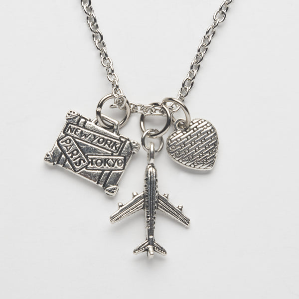 Pack Your Bags Charm Necklace - Cheeryos Jewelry