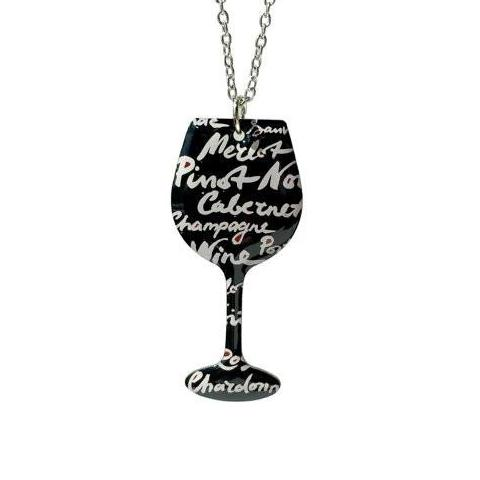 Wine Words- Chain Necklace - Cheeryos Jewelry
