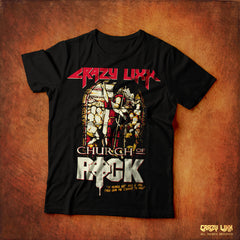 Crazy Lixx - Church of Rock - Black T-shirt