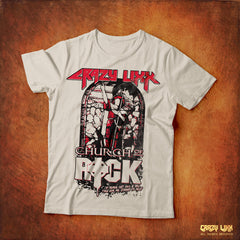 Crazy Lixx - Church of Rock - White T-shirt