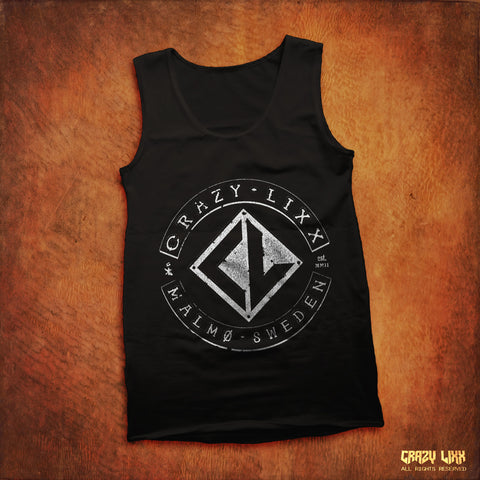 Crazy Lixx Malmo Sweden - Black Tank Top