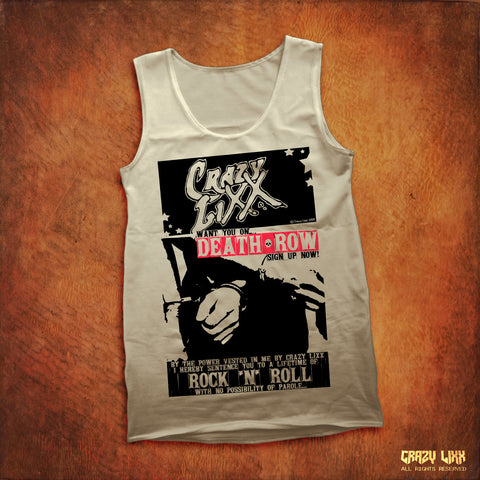 Death Row - White Tank Top