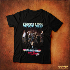 Crazy Lixx - Freedom Forces Tour 2019 - Black T-shirt