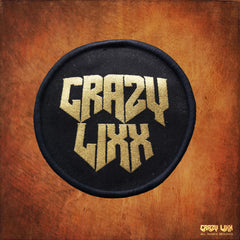 Crazy Lixx - Golden Logo Black Patch
