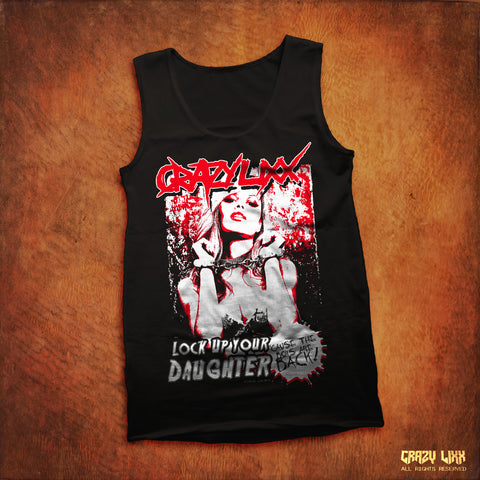 Lock Up Your Daughter - Black Tank Top