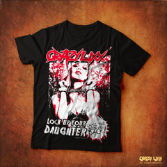 Crazy Lixx - Lock Up Your Daughter - Black T-shirt