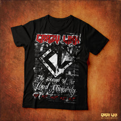 Crazy Lixx - The Sound of the Loud Minority - Black T-shirt
