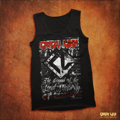 Crazy Lixx - The Sound of the Loud Minority - Black Tank Top