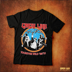 Crazy Lixx - Tourever Wild - Black T-shirt