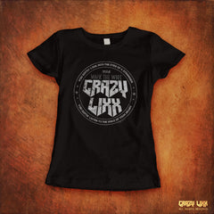 Crazy Lixx - Walk the Wire - Black Lady Fit T-shirt