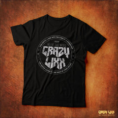 Crazy Lixx - Walk the Wire - Black T-shirt