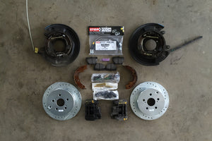 7th Gen Celica GT rear drum to disc brake conversion