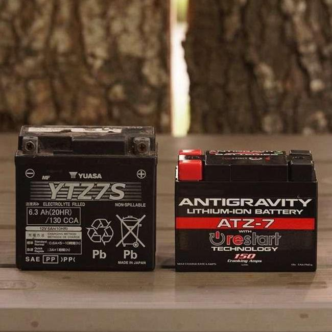 Antigravity ATZ7-RS lithium motorcycle battery