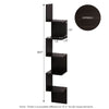 Corner Shelf Unit - 5 Tier Espresso - Wall Decor