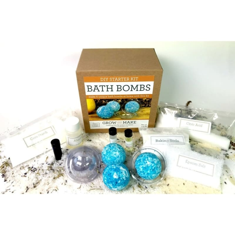 Bath Bomb Making Kit - Learn How To Make Home Made Bath Bombs - Unique Uncommon Gifts