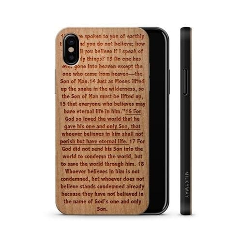 Wooden Phone Case - John 3:16 - Phone Cases