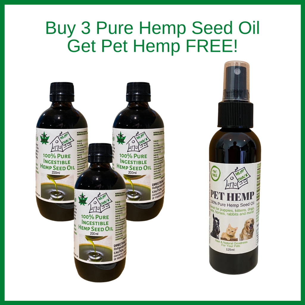 Buy 3 Hemp Seed Oil and get a Pet Hemp FREE!