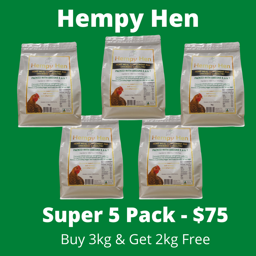 Hempy Hen Super Value Pack - 5 x 1kg