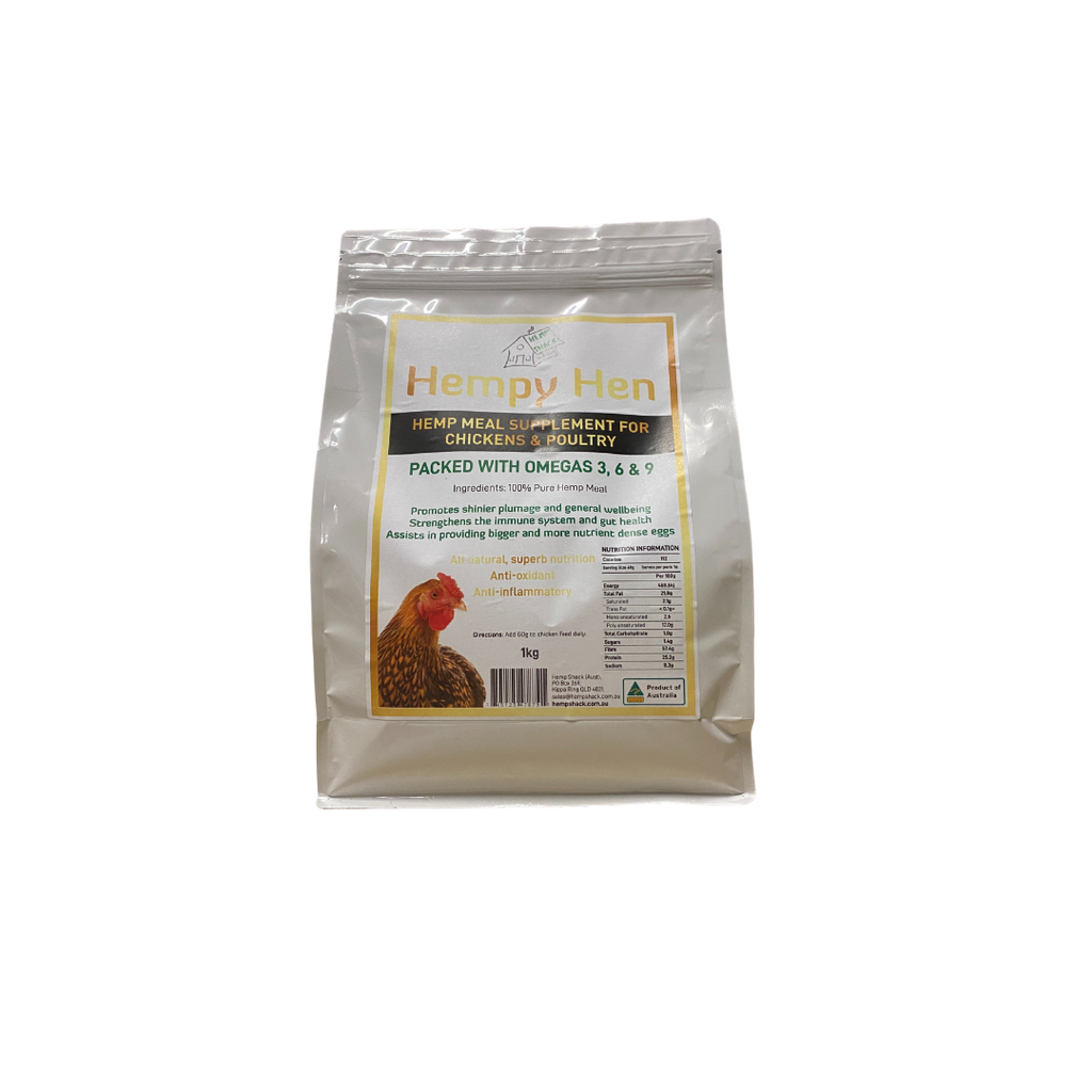 Hempy Hen Hemp Meal Supplement for Chickens & Poultry 1kg
