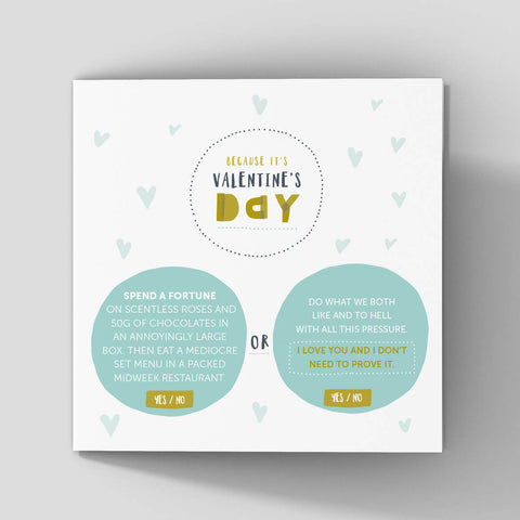 No fuss Valentines cards