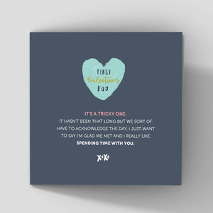 Valentine card for a new girlfriend or new boyfriend