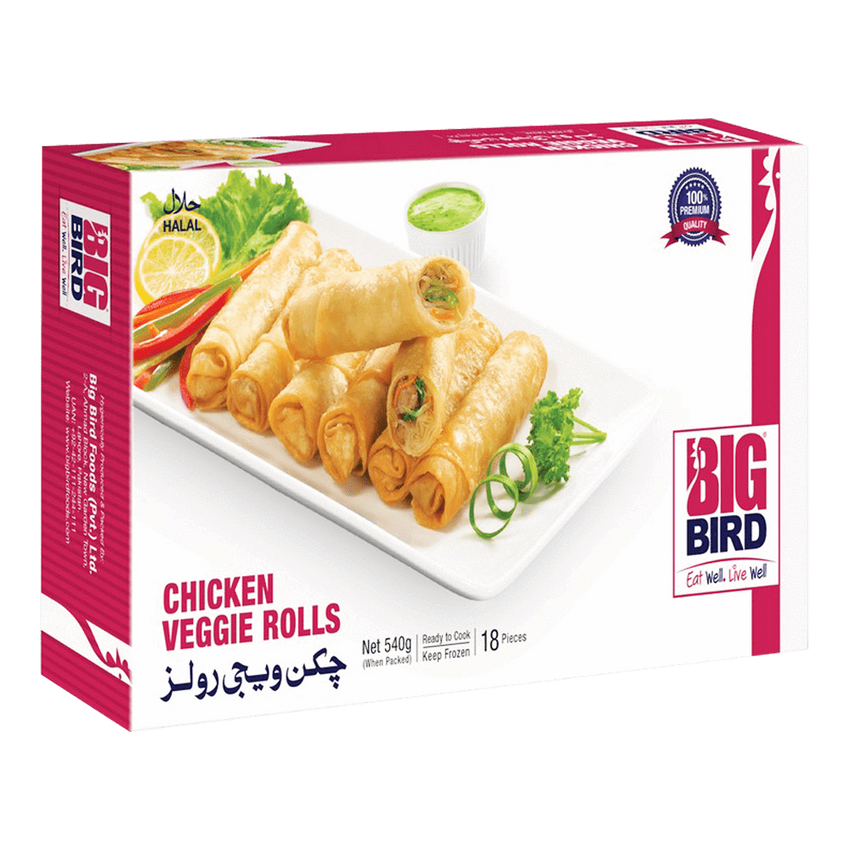 Alfatah FROZEN FOOD Big Bird Chicken Veggie Roll 540 gm