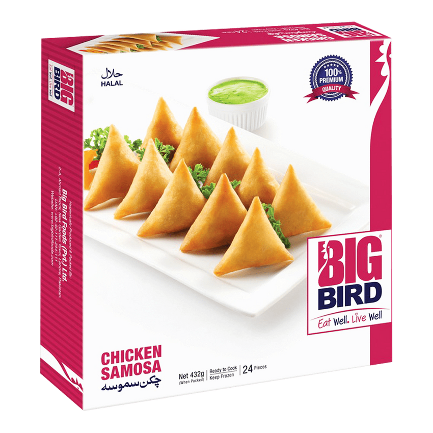 Alfatah FROZEN FOOD Big Bird Vegetable Samosa 432 gm