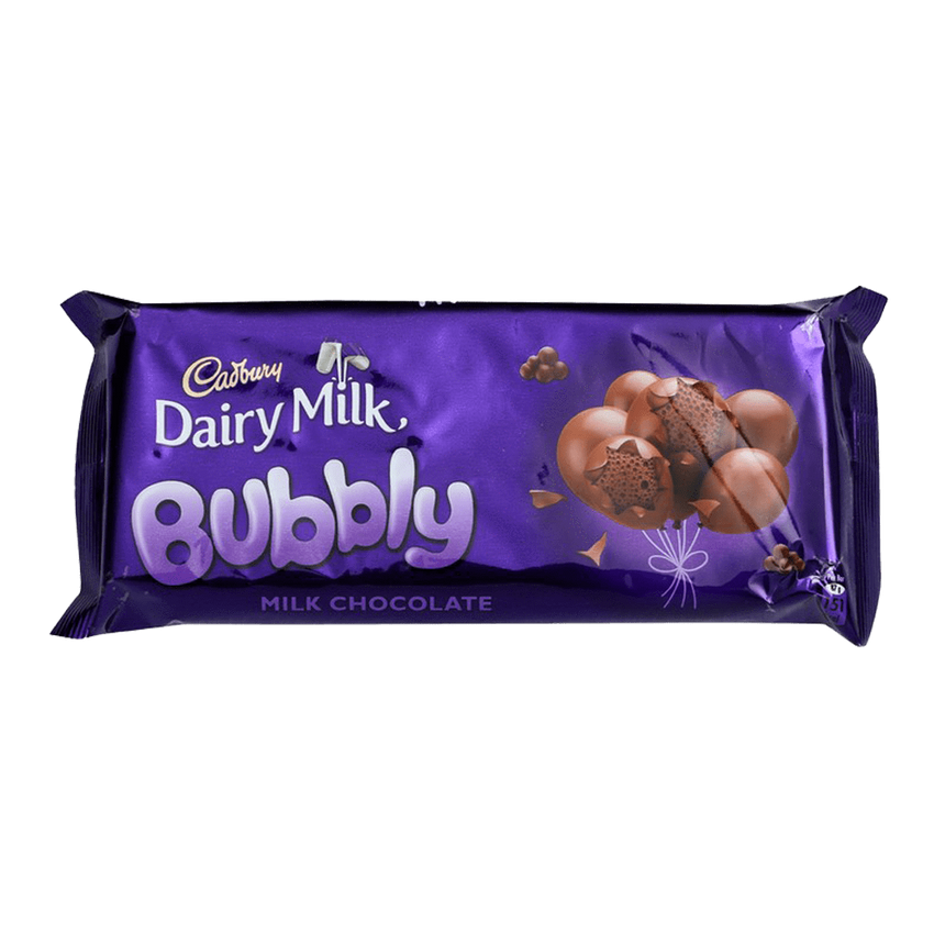 Alfatah SNACKS Cadbury Dairy Milk Chocolate Bubbly 87 gm