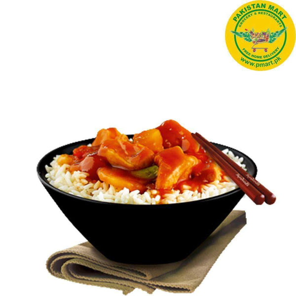 Chicken Broast Chicken Broast Chicken Broast - Sweet and Sour Chicken with Rice (Bowl)