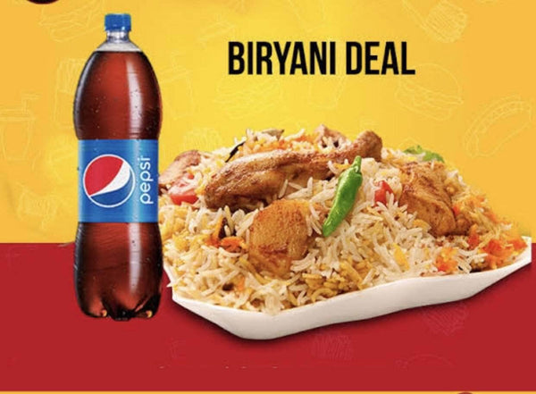 PAKISTAN MART | Grocery Delivery Chicken Bryani Thaal (3-4 person) + 1.5L Drink