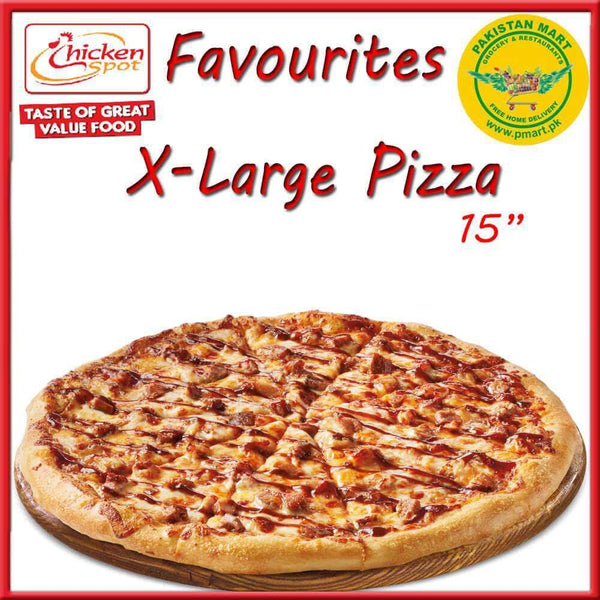 Chicken Spot Chicken Spot Chicken Spot – Favourites Extra Large Pizza * 15 inch