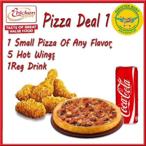 Chicken Spot Chicken Spot Chicken Spot – Pizza Deal 1 (1 * Small Pizza , 5 * Hot Wings , 1 * Regular Drink)