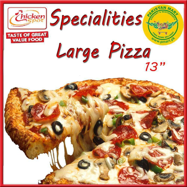 Chicken Spot Chicken Spot Chicken Spot – Specialities Large Pizza * 13 inch