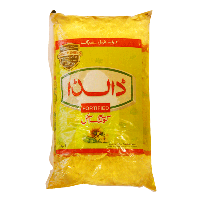 Alfatah COOKING OIL Dalda Cooking Oil Pouch 1    ltr