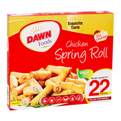 Alfatah FROZEN FOOD Dawn Chicken Spring Roll 22 Pcs Pack 440 gm